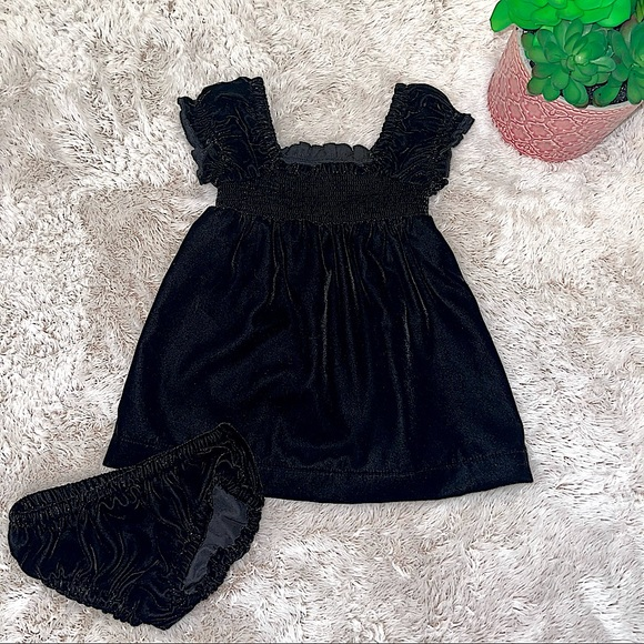 NEW Gymboree Black velvet Baby dress 3-6M